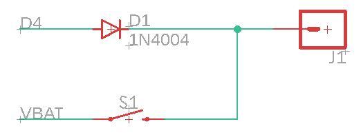 Schaltung für manuellen und digitalen Schalter
