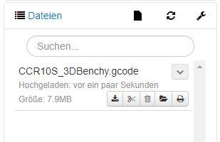 OctoPrint Dateiexplorer
